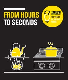 Zanussi induction-from hours to seconds